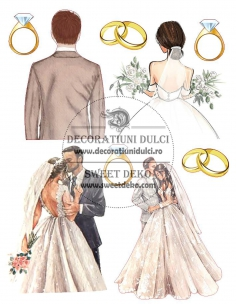 Edible image - Wedding