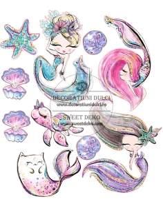 Edible image - Sweet Mermaid