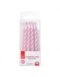 Candles pink pearl (set 4...