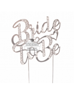 Cake Topper Silver BRIDE TO BE