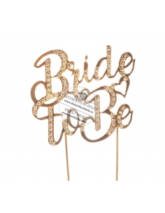 Cake Topper Gold BRIDE TO BE