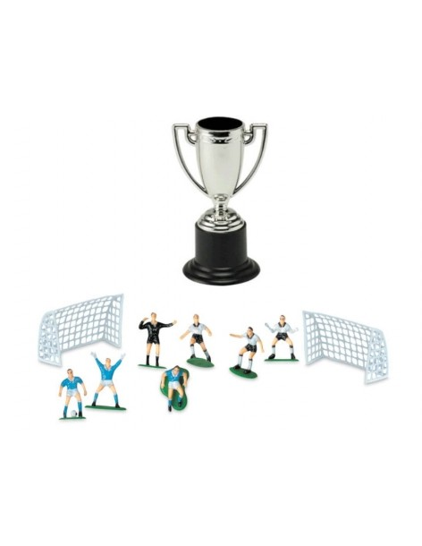 Cake Topper Set Football Cup