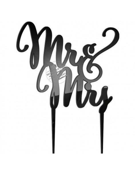 PlexiGlass Topper text mr&mrs