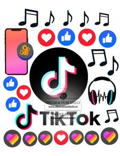 Edible image tik tok party