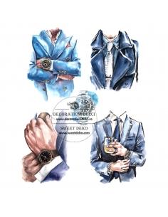 Edible image men in a suit