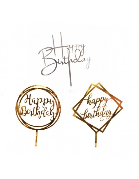 Cake toppers acetat